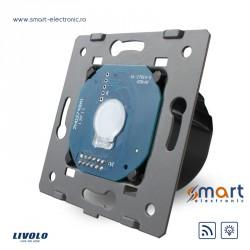 Întrerupător simplu cu reglarea intensității luminii si acționare radio de la distanță - fară panou frontal de sticlă